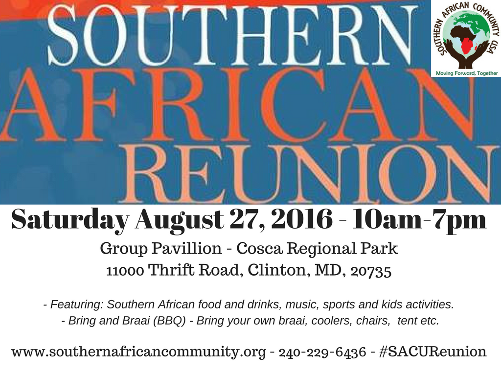 Southern African Reunion-Picnic 2016