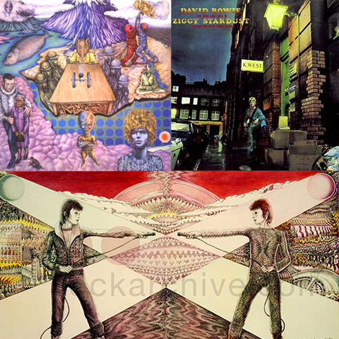 Ziggy Stardust Tour artwork by George Underwood