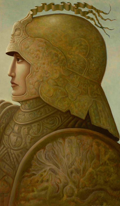 Warrior oil painting by George Underwood