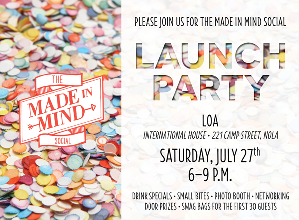 Please Join Us For The Made In Mind Social Launch Party!