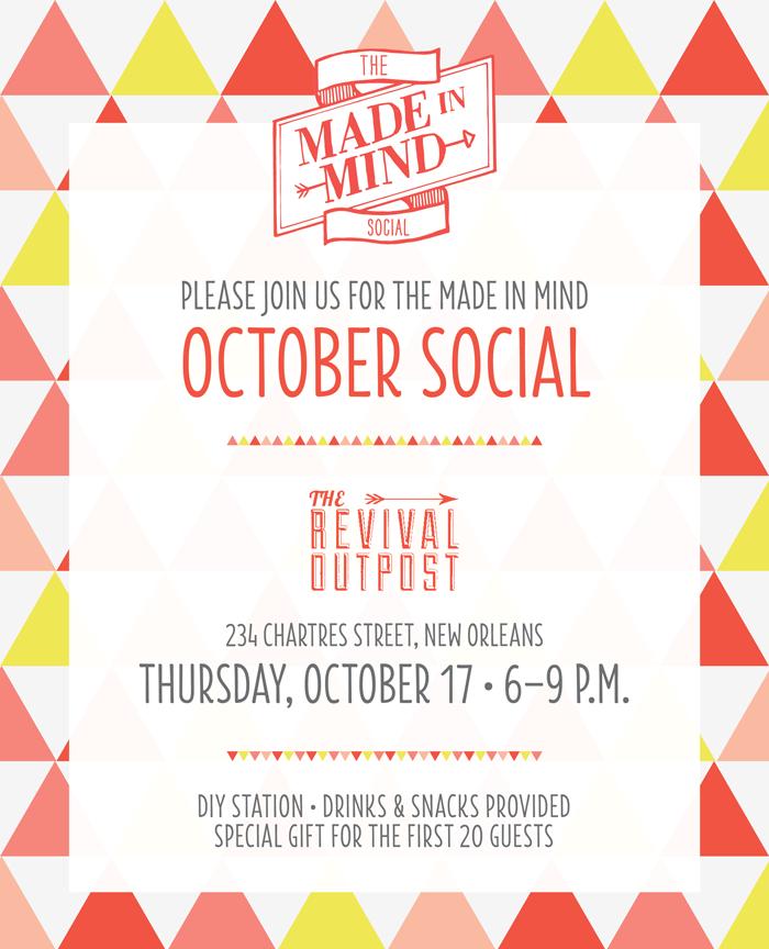October Social Invite