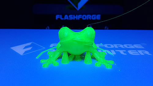 Photo of 3D printed frog
