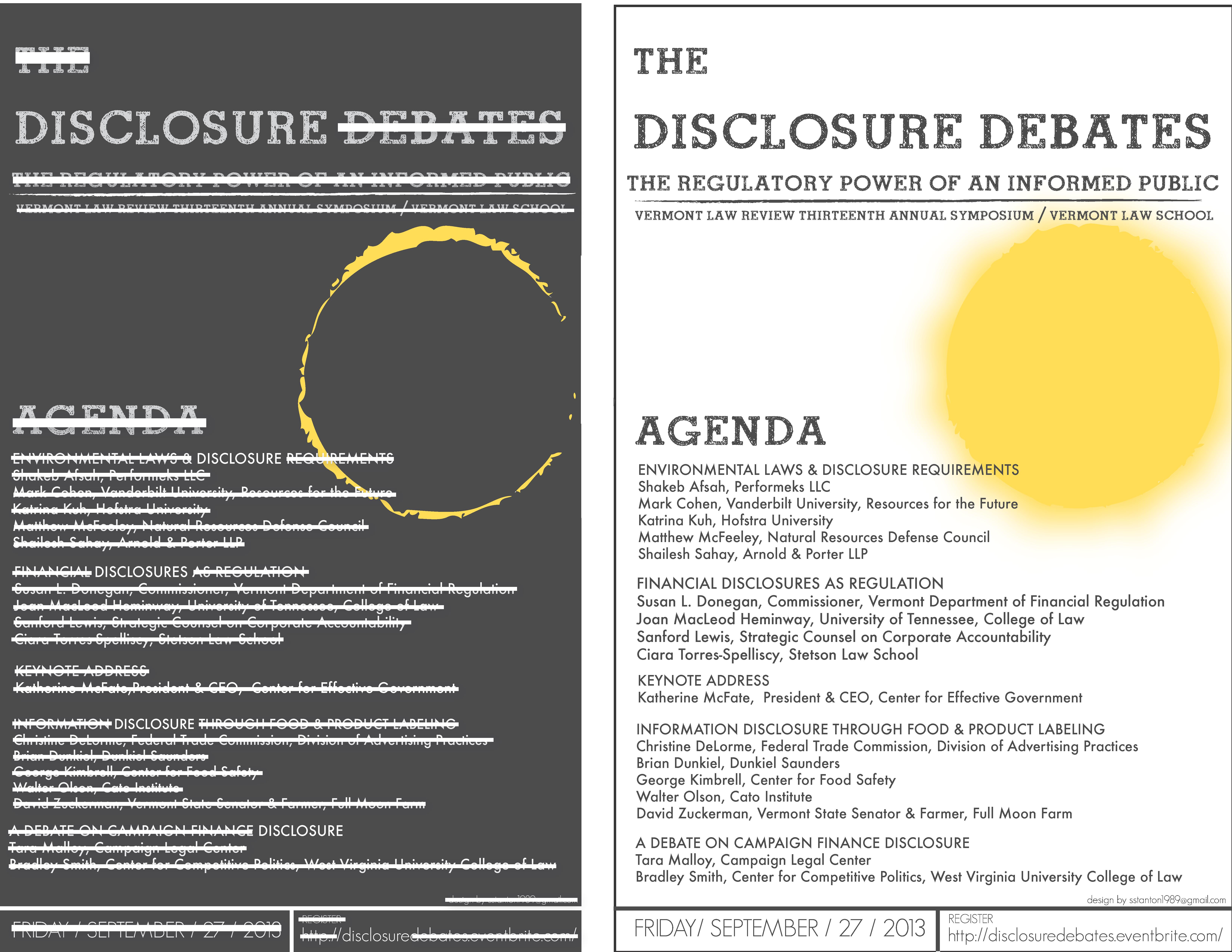 Disclosure Debates Poster