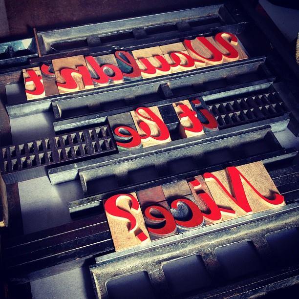 wooden letterpress