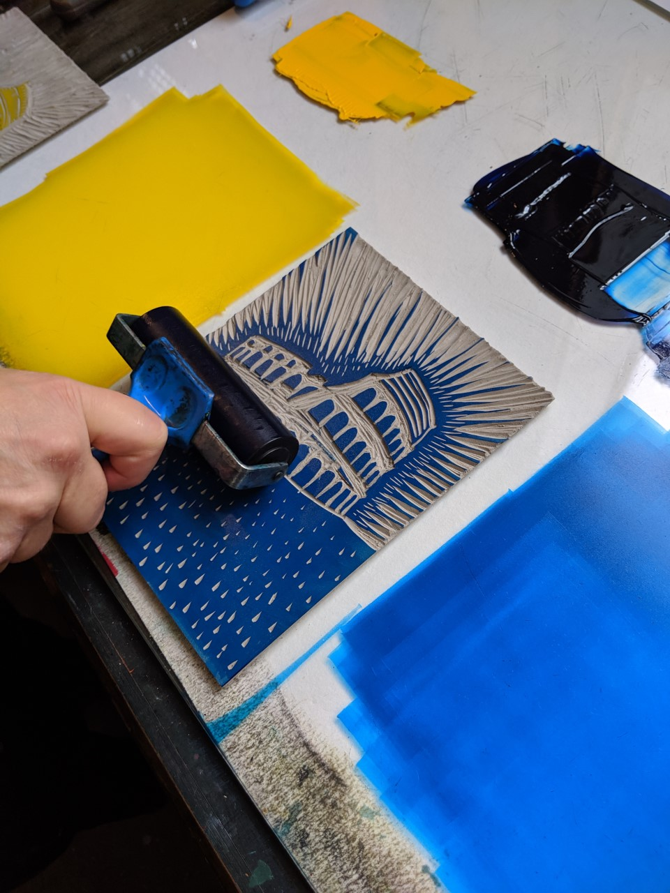 Colour Linocut workshop - weekend Tickets, Sat 11 Jan 2020