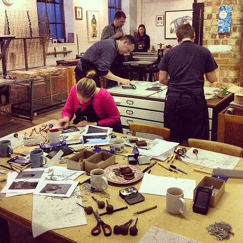 linocut workshop