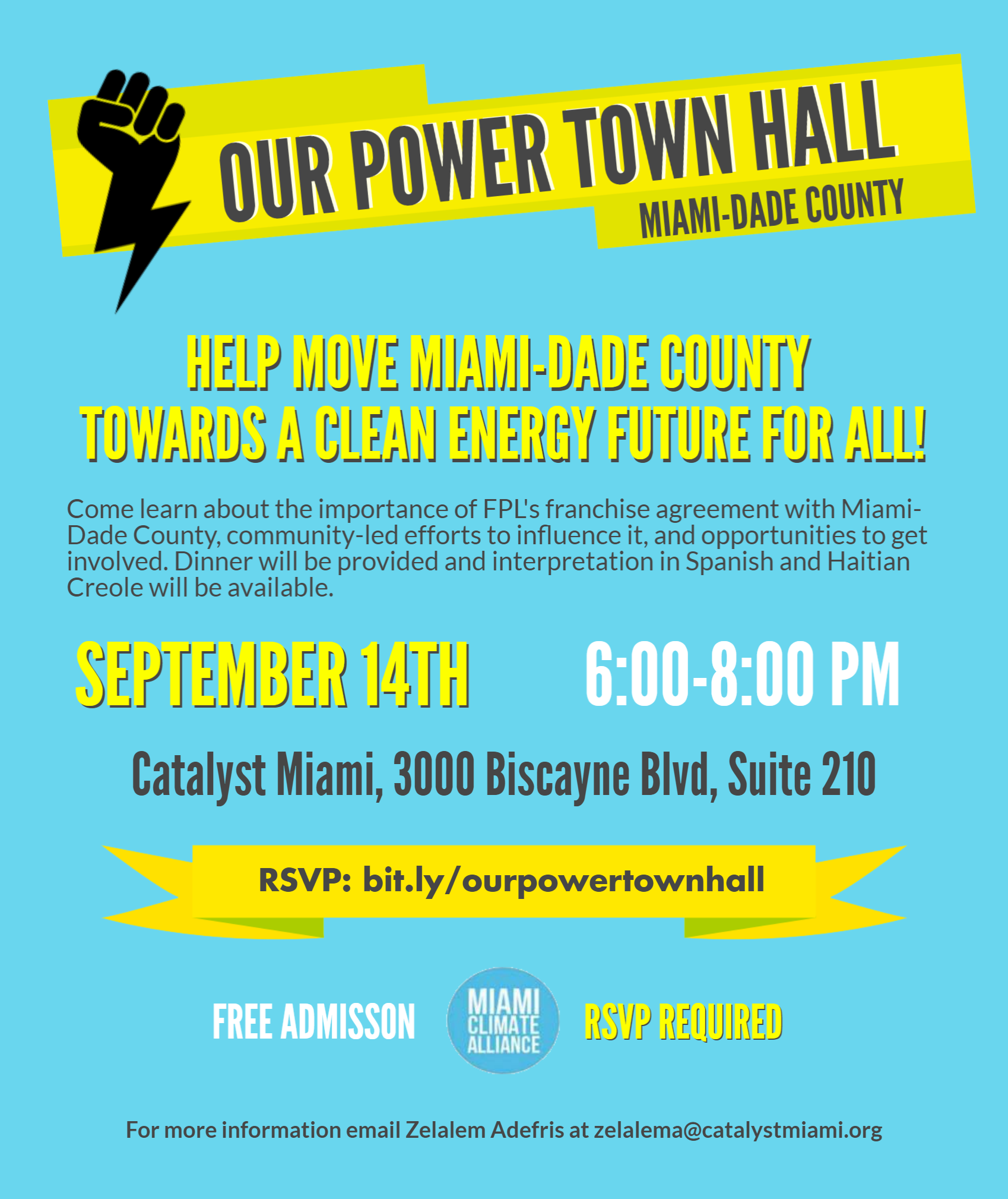 Our Power Town Hall Flyer