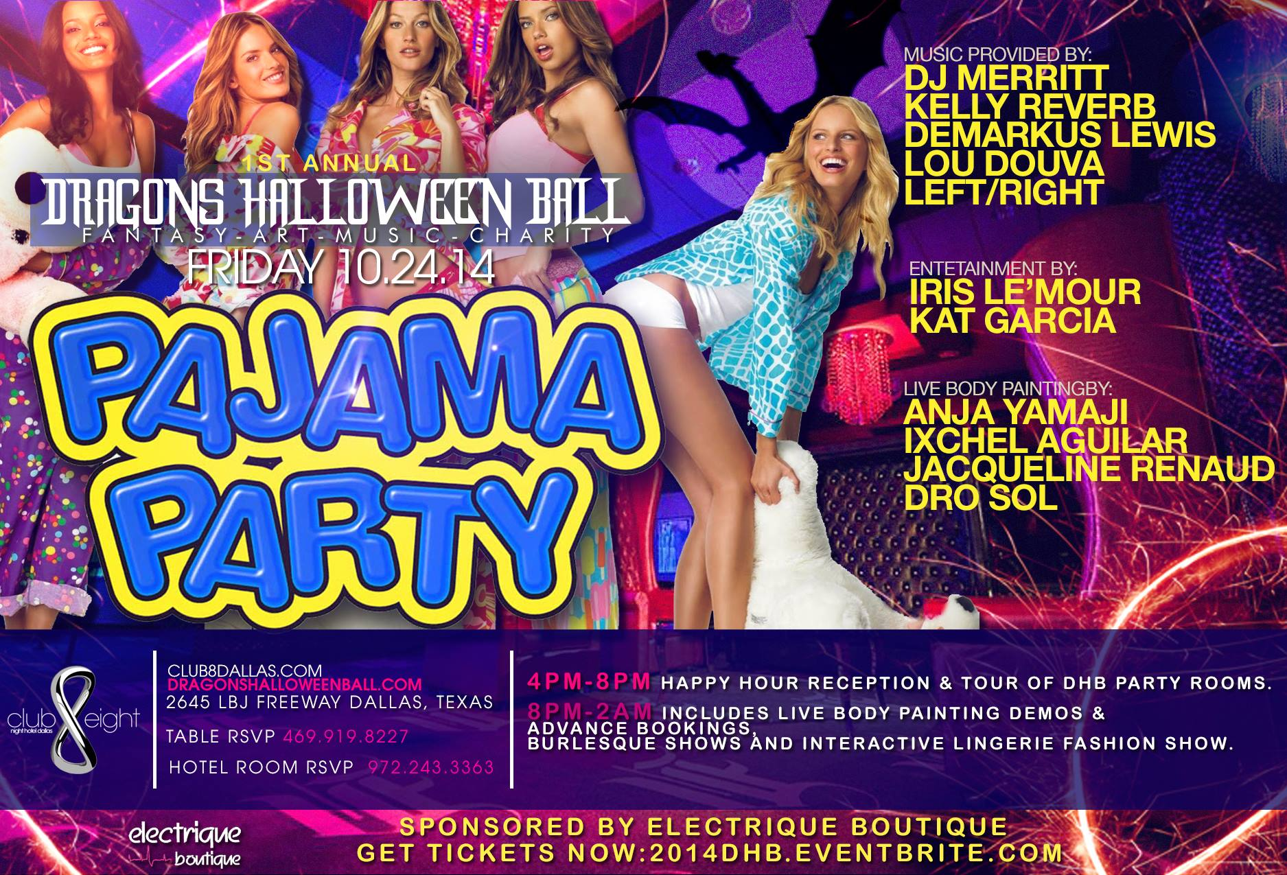 FRIDAY OCT 24th DHB EVE PAJAMA PARTY