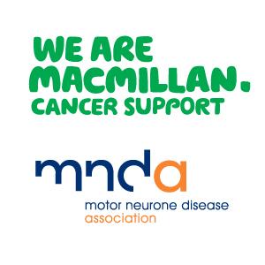 Macmillan Cancer Support and MNDA logos