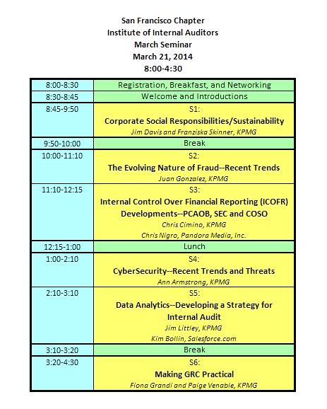 Seminar agenda details