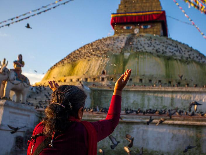 Kathmandu morning Prayers