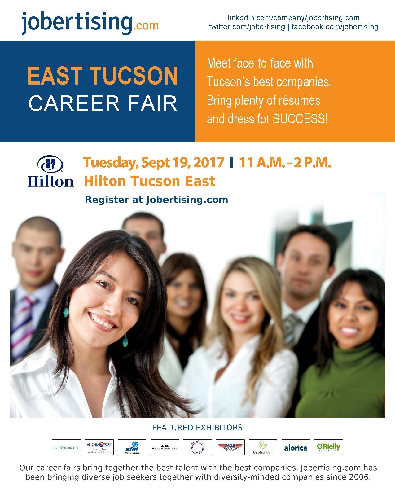 East Tucson Career Fair Tuesday September 19 2017 11am 2pm