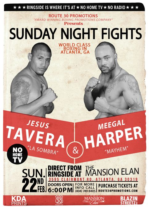 SNF Boxing in ATL Harper Tavera flyer