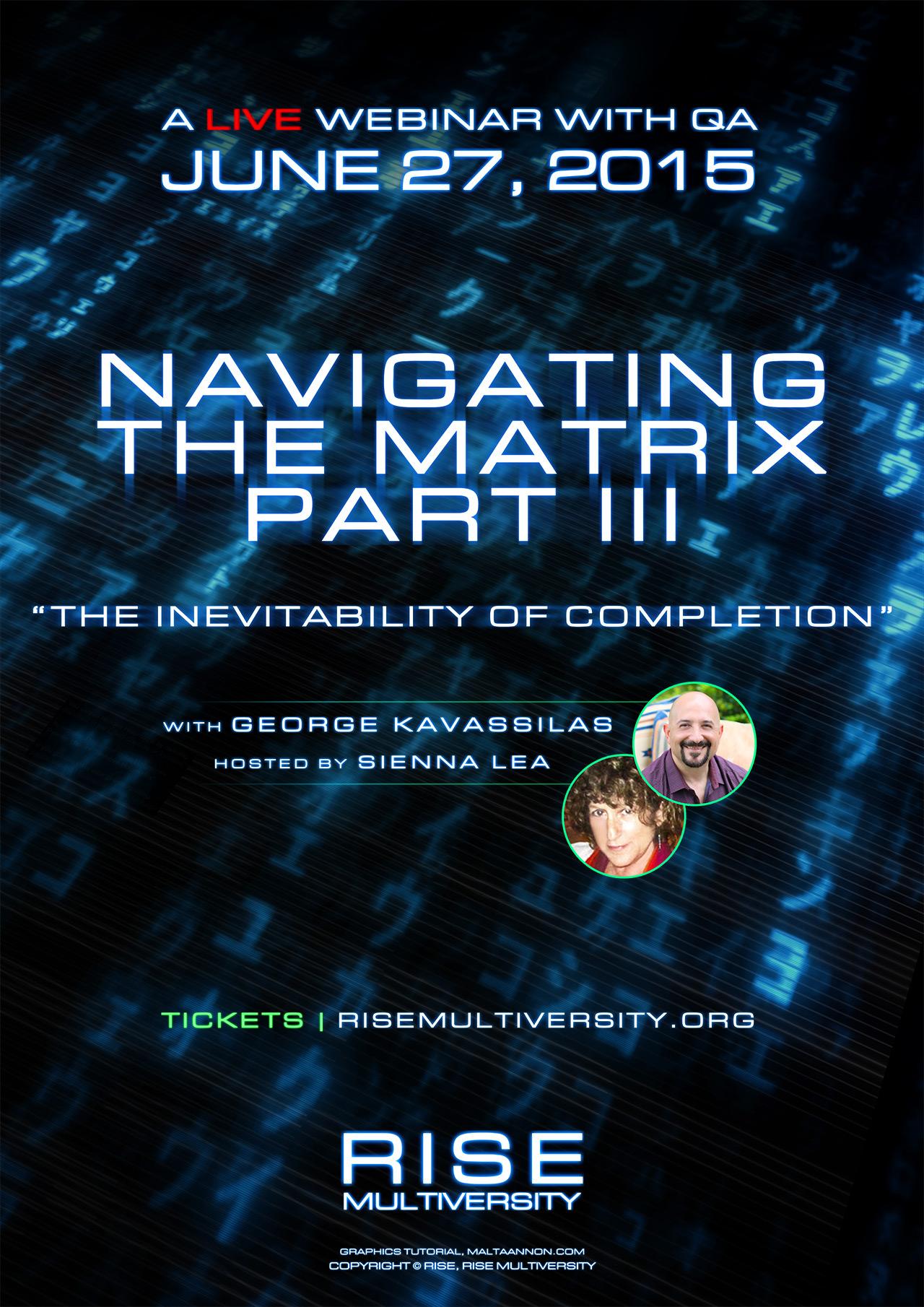 Navigating The Matrix Part III