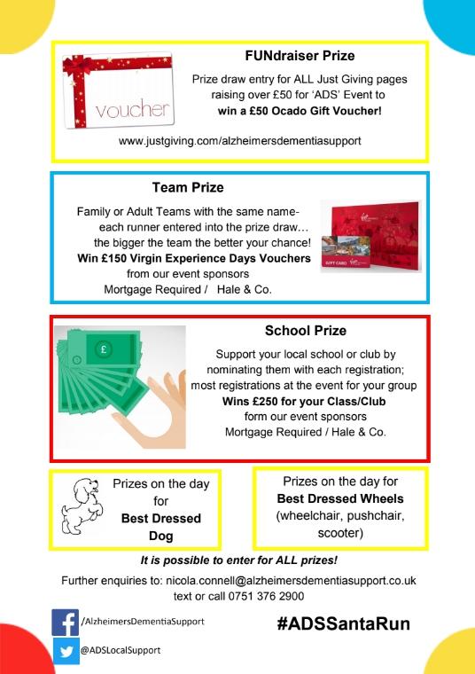 ADS Santa Fun Run 2018 prizes