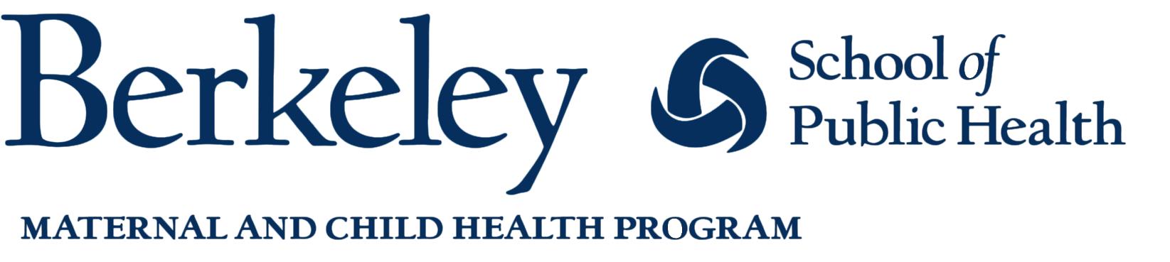 uc berkeley maternal and child health at school of public health logo