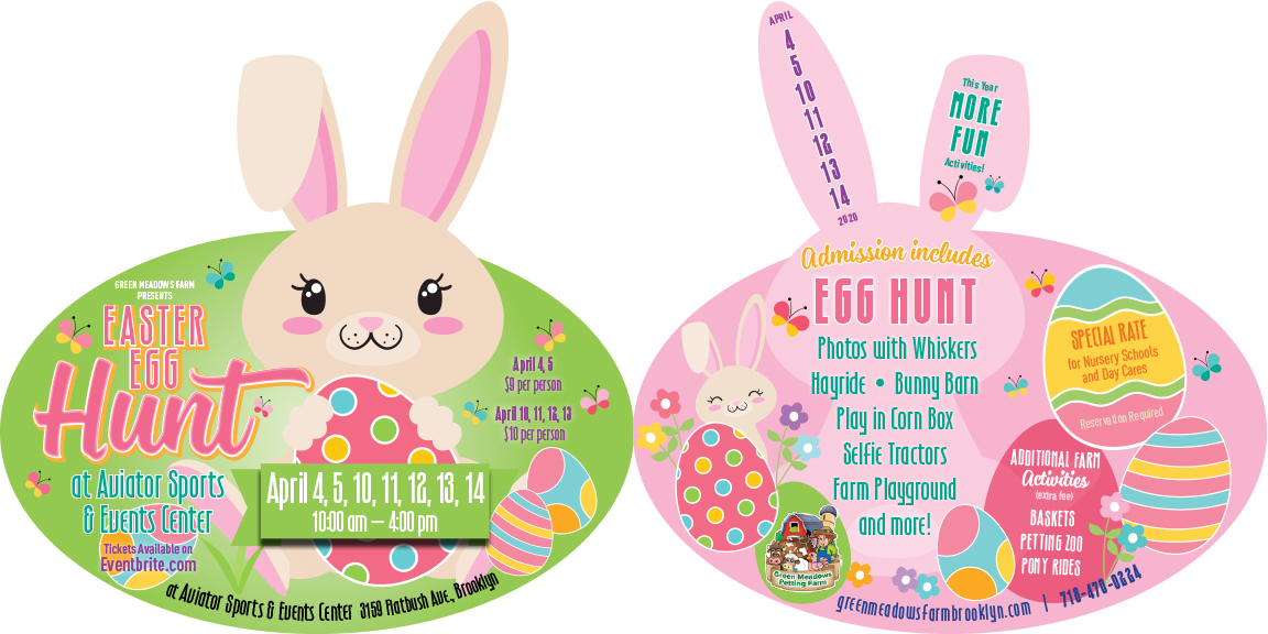 Aviator Brooklyn Easter Egg Hunt Bunny Card
