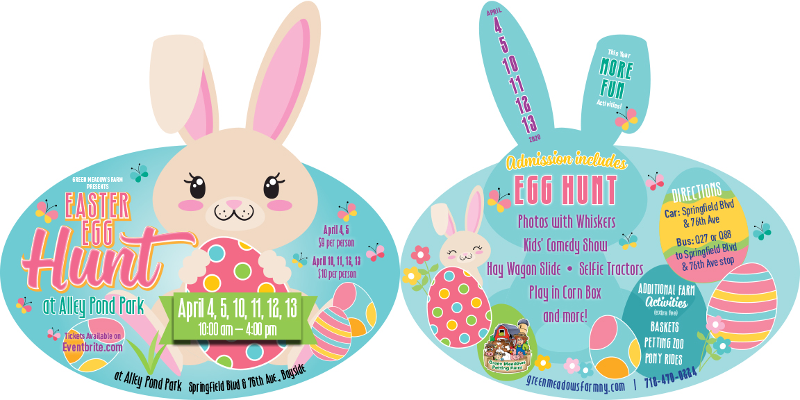 Alley Park Pond Queens Easter Egg Hunt Bunny Card