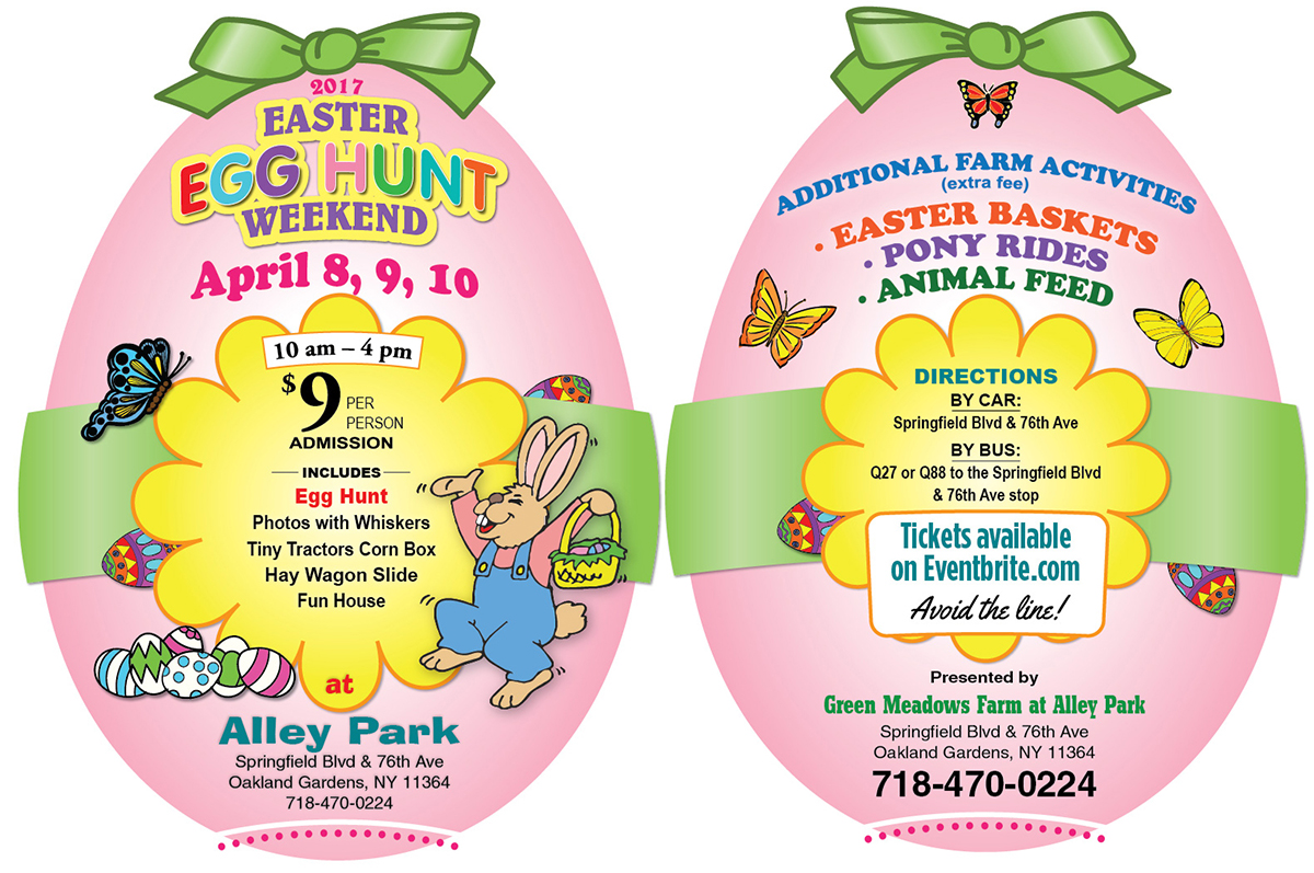 2017 Easter Egg Card for Alley Park NY