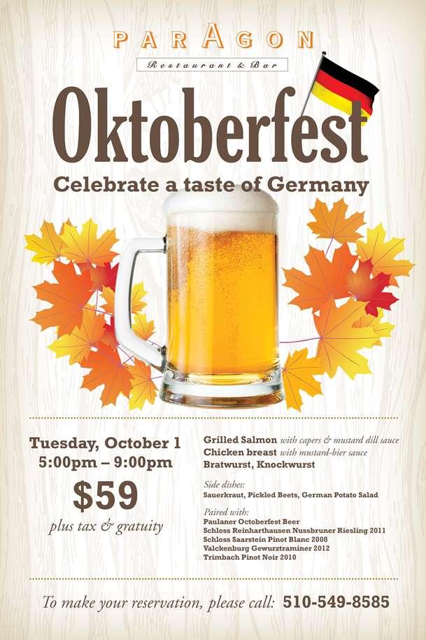 Paragon Oktoberfest Menu