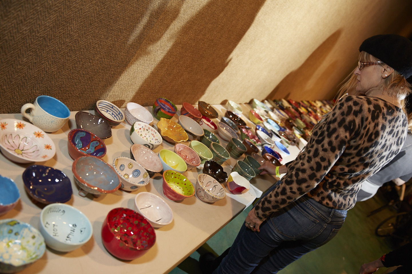 Assortment of hand-painted bowls
