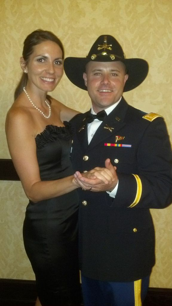 1LT and Mrs Barret at 2012CavBall