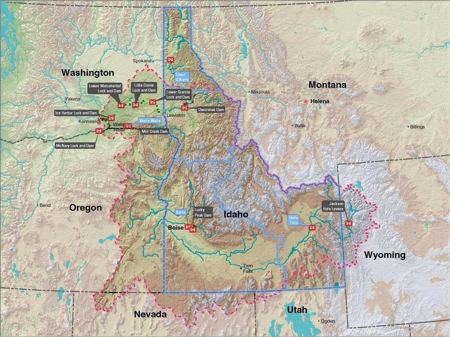 Walla Walla District Locations