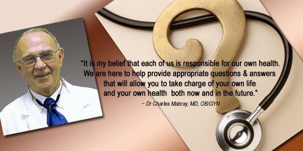 Ask Dr. Charles Mabray