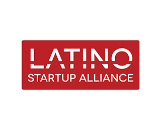 Latino Startup Alliance logo - white text red background