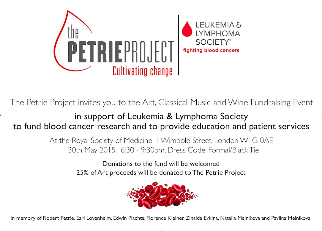 Invitation to The Petrie Project Evening on May 30th 2015