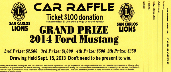 WIN A 2014 MUSTANG. Express your inner Mustang. Tax Deductible!