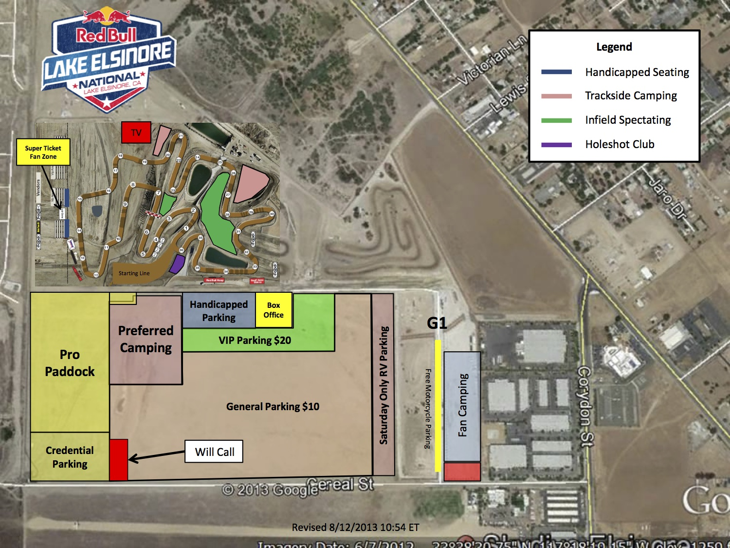 2013 Site Map - Red Bull Lake Elsinore National