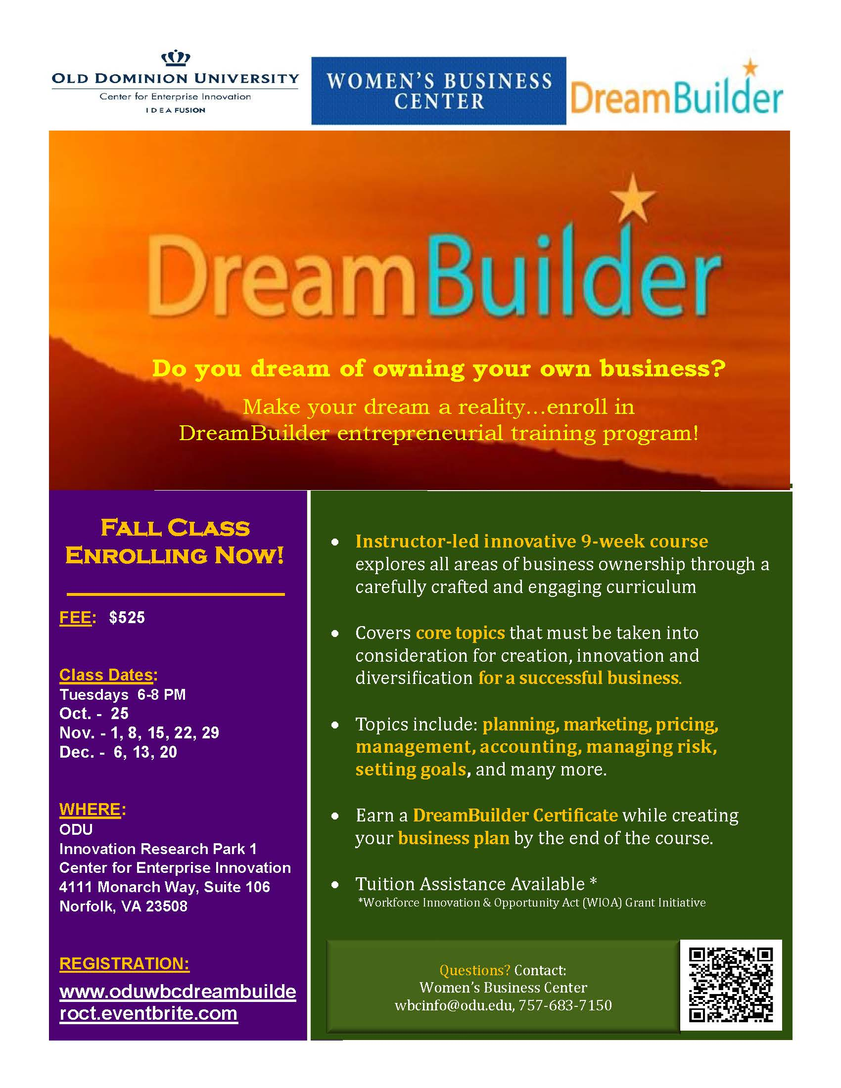 Dream Buider Flyer