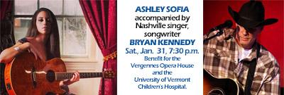 Ashley Sofia at the Vergennes Opera House
