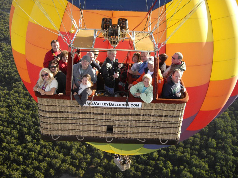 Group Shot Napa Valley Balloons