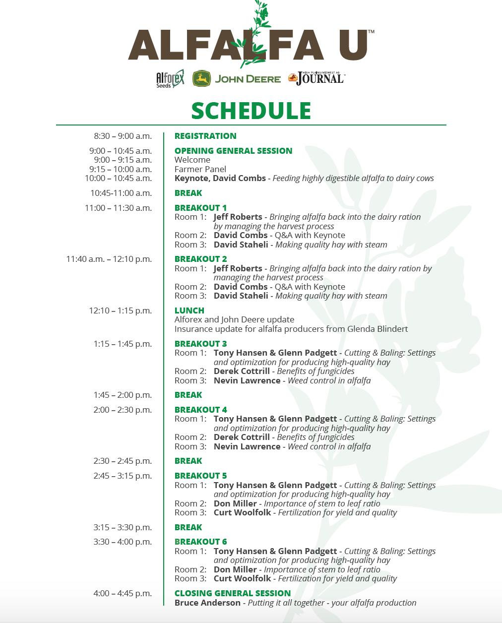 AU Schedule