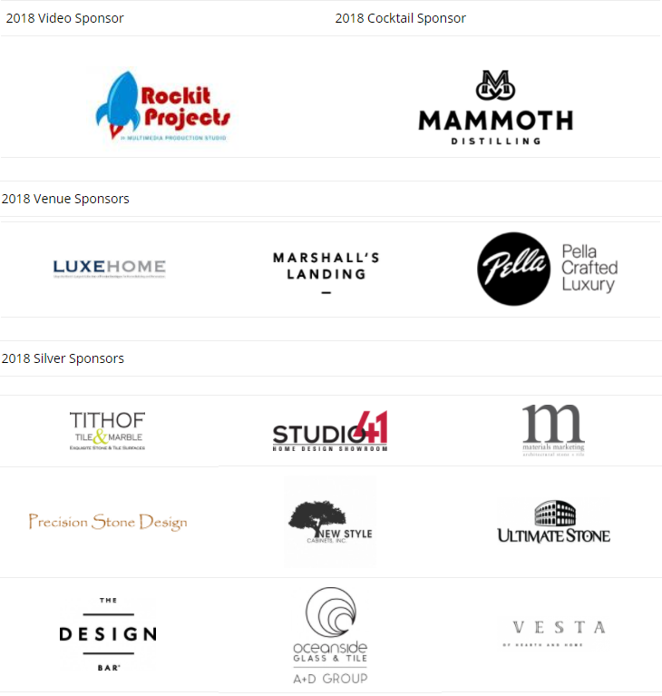 PHS Luxury Conference sponsors