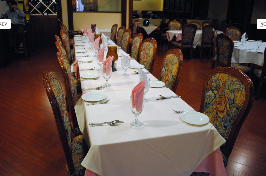Sitting and Dining at Saagar Fine India Cuisine
