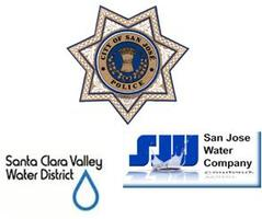 The San Jose Police Department, The Santa Clara Valley Water District, San Jose Water Company