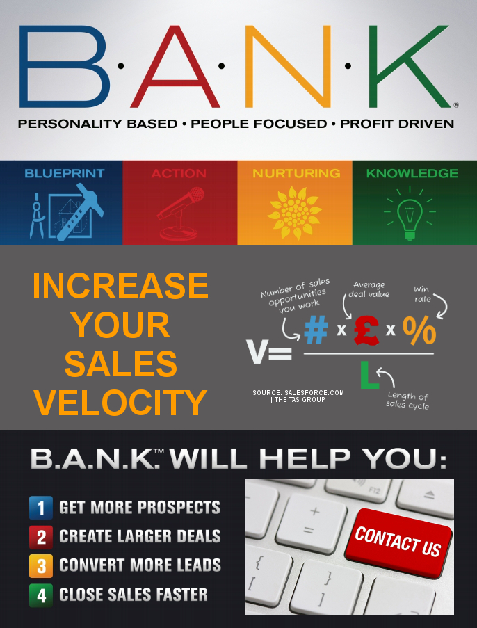 BANK Increases Your Sales Velocity