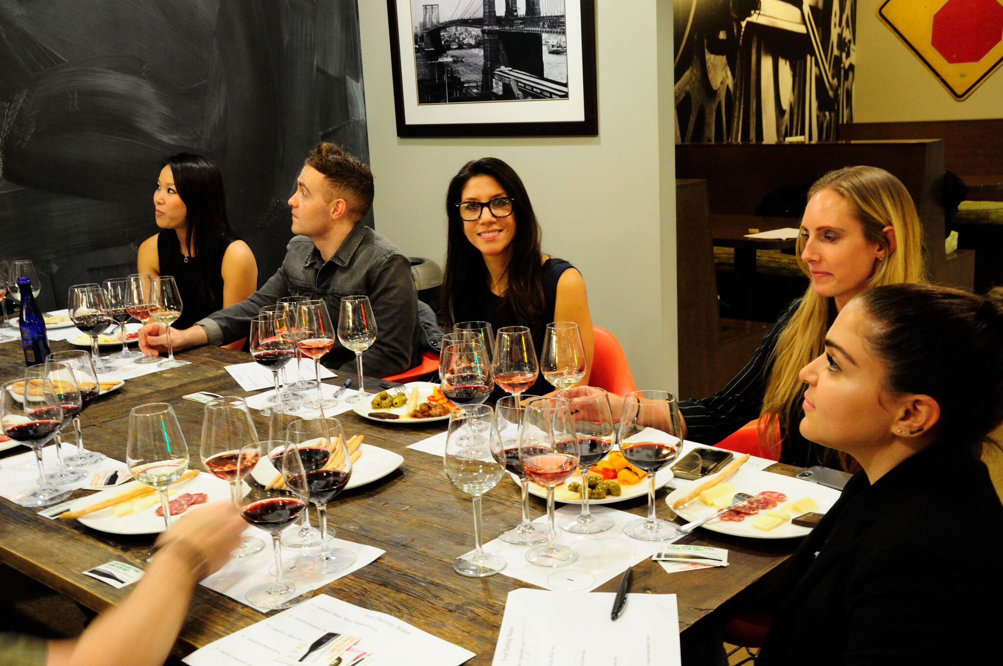 Italian wine enthusiasts at the Native Wines of South Italy wine class in New York.