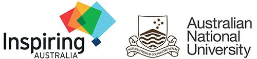 Inspiring Australia and Australian National University logos.