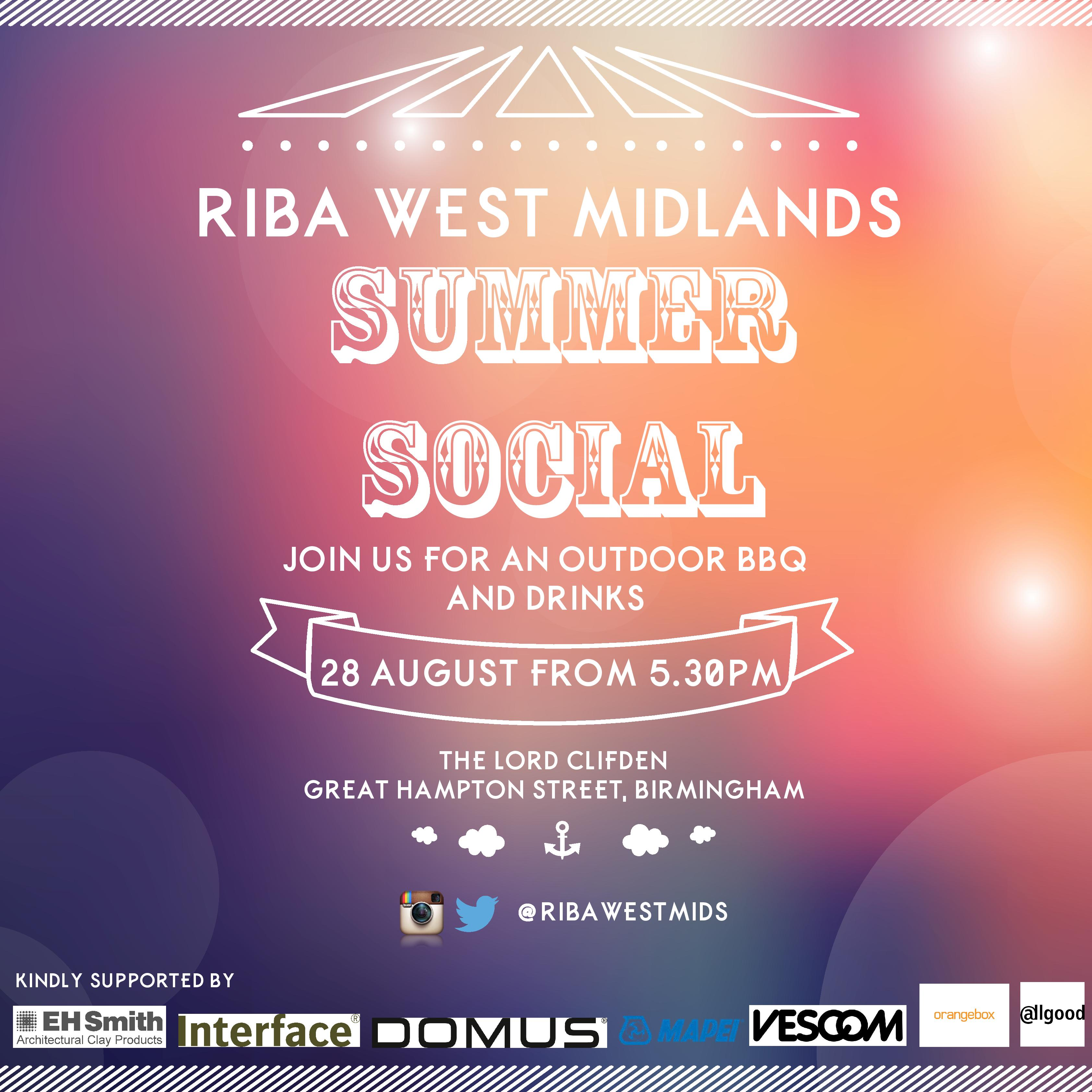 RIBA West Midlands Summer Social