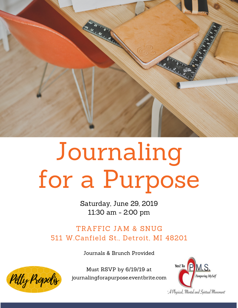 Flyer for Journaling for a Purpose workshop