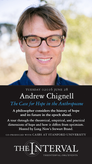 Andrew Chignell at The Interval, June 28, 02016