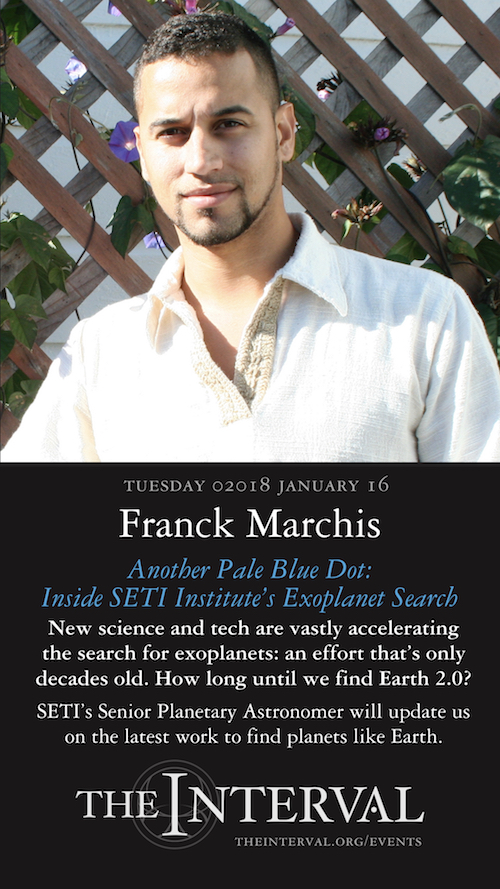 Franck Marchis at The Interval, January 16, 02018
