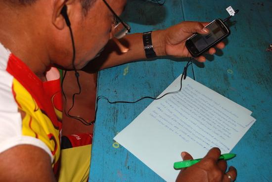 Transcribing Nhengatu language stories to share with the world