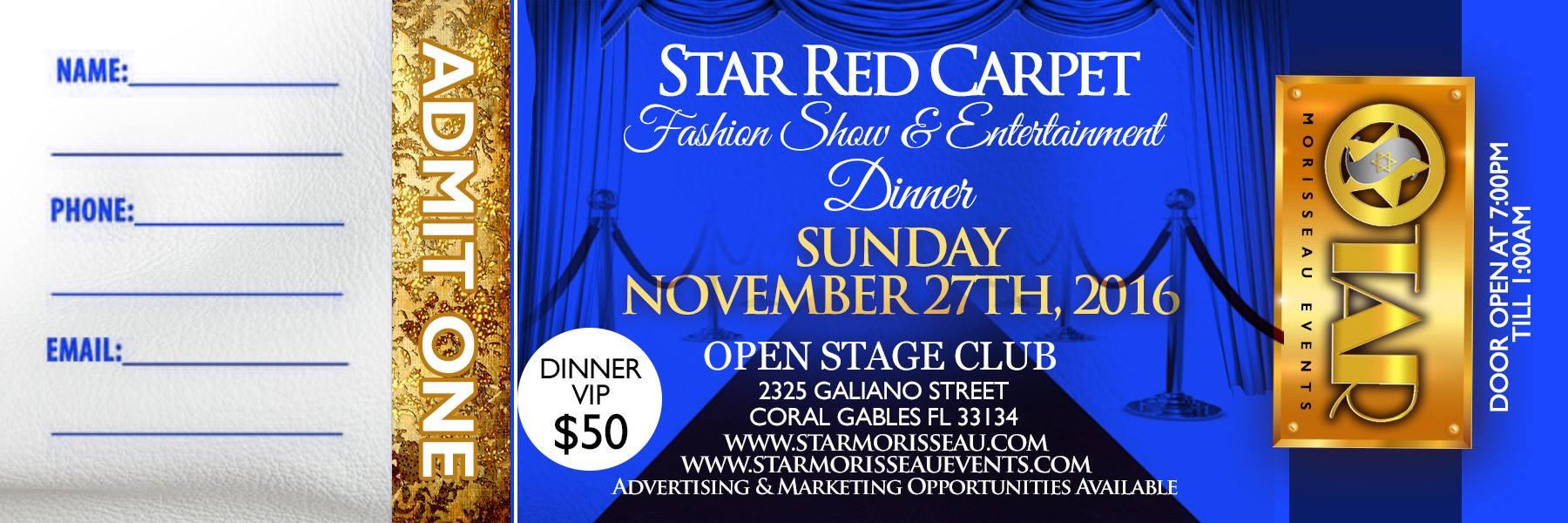 star red carpet VIP TICKETS