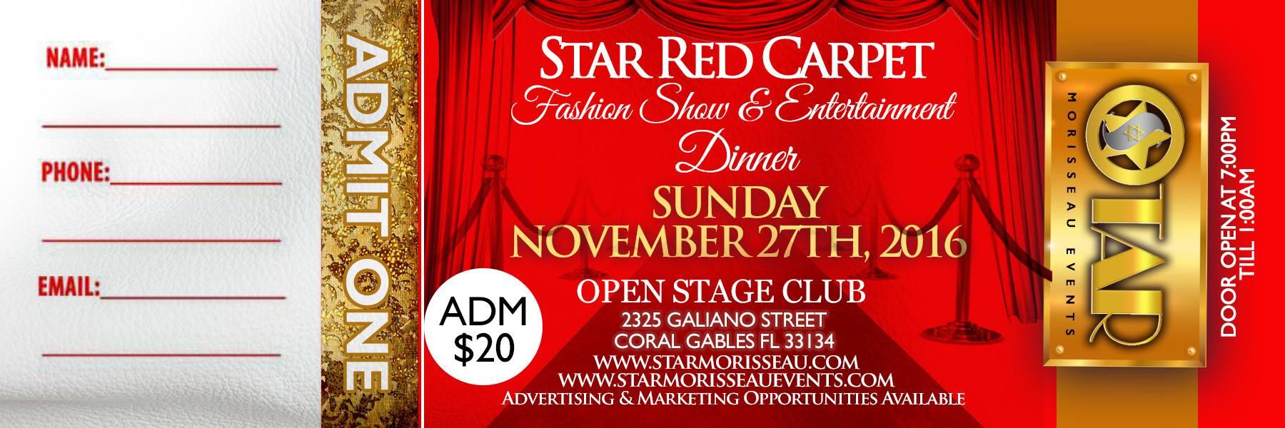 star red carpet GEN.ADMISSION TICKETS