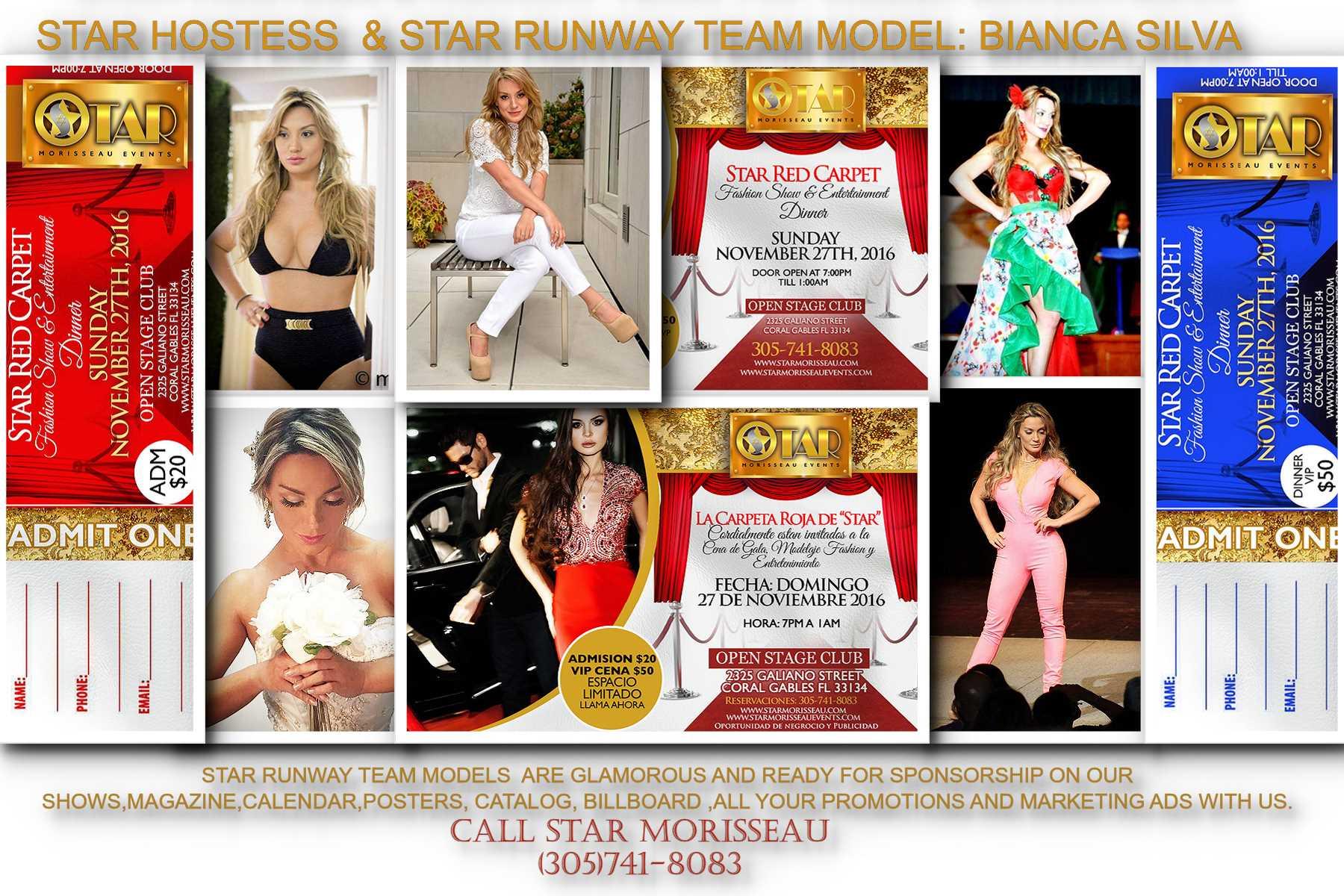 star red carpet hostess Bianca Silva